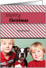 Red Stripes Christmas Photo Card