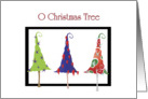 For Teacher, O Christmas Tree, Whimsical Trees card