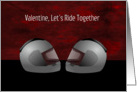 Motorcycle Helmet Valentine's Day Card