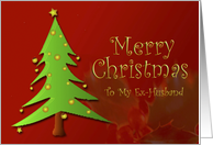 Christmas, Ex-husband, Christmas Tree card