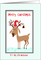 Christmas, Ex-husband, Reindeer card