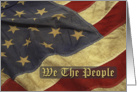 We The People, US Flag card