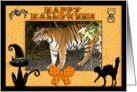 Halloween Bengal Tiger card