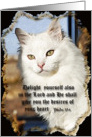 White Angora Psalm 37:4 card