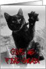 CONGRATS GRADUATE! Black cat high five card