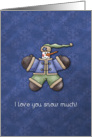 Snowman says: I love you snow much card