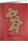 Gingerbread Couple Winter/Christmas Wedding Anniversary card