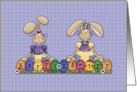 Happy Easter Bunnies card