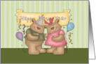 Happy New Year Bear Couple card