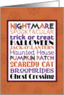 Halloween Word Art card