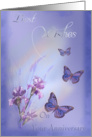 Anniversary, Irises and Butterflies card