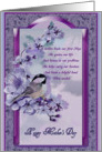 Mother's Day, Spring Chickadee, poem card