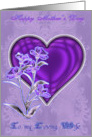 Mother�s day, wife, flower & heart. card
