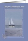 father's day, footprints, sailboat card