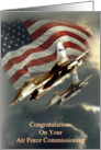 Air force commissioning, flag and fighterjet card