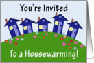 Houses on a Hill, Housewarming Invitation card