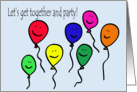 Party Balloon Invitation card