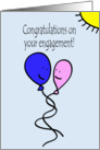 Balloon People Engagement Congratulations card