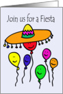 Balloon People Fiesta Invitation card