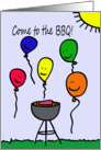 Balloon People BBQ Invitation card