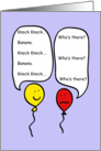 Balloon People Knock Knock Joke card