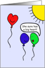 Balloon People, You have a big heart! card