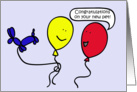 Ballon People, Congratulations on your new pet Card