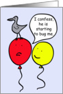 Cartoon Balloon People, What's bugging you? card