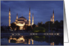 The Blue Mosque in Istanbul, Turkey card