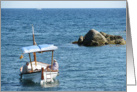 Small boat on the Costa Brava card