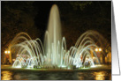 Fountain by night card