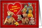 Happy Valentine's Teddy Bears card