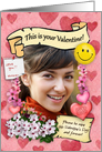 Customizable Valentine's Frame card