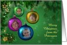 4 Photo Family Christmas card