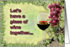 Let's have a glass of wine together card