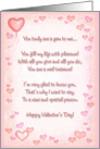 Valentine's Hearts / Poem card