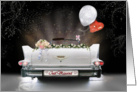 Just Married Convertible card