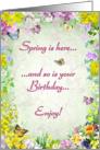 Birthday in Spring card