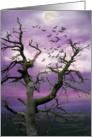 Spooky Halloween Tree card