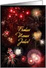 Neujahrs-Feuerwerk card