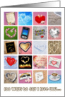 100 ways to say I love you, Valentine's Day card