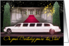 Stretch Limo Birthday card