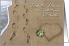 Wedding Footprints in the Sand card
