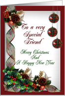 Merry Christmas Special friend card