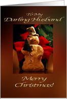 Merry Christmas Snowman - My Husband card
