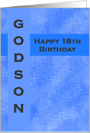 Happy 18th Birthday Godson card