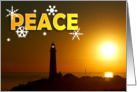 Peace Lighthouse card