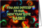 New Year's Eve Bash card