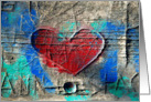 Heart Graffiti card