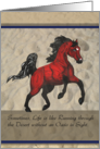 Running Arabian Horse Thank You for your Kindness card